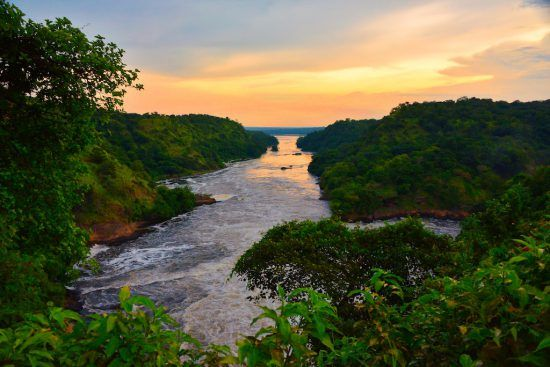 River Nile at Sunset, Uganda