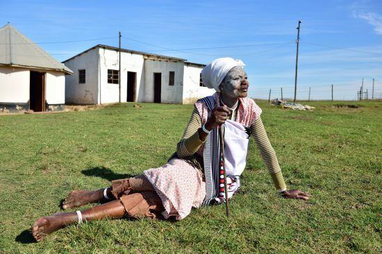 A Xhosa woman in the Eastern Cape of South Africa