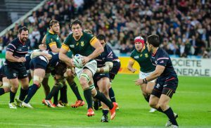 Les Springboks lors d'un march de rugby, Afrique du Sud
