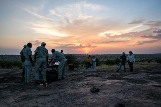 Sunset at Serengeti Under Canvas during the Great Migration
