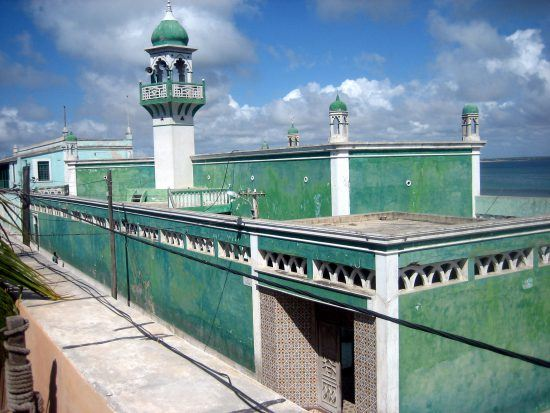 A beautiful mosque in Mozambique