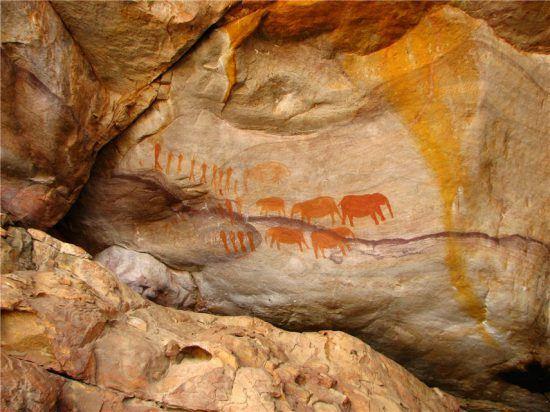 Sehr gut erhaltene Felsmalereien der San in den Cederbergen, Foto: Valroe