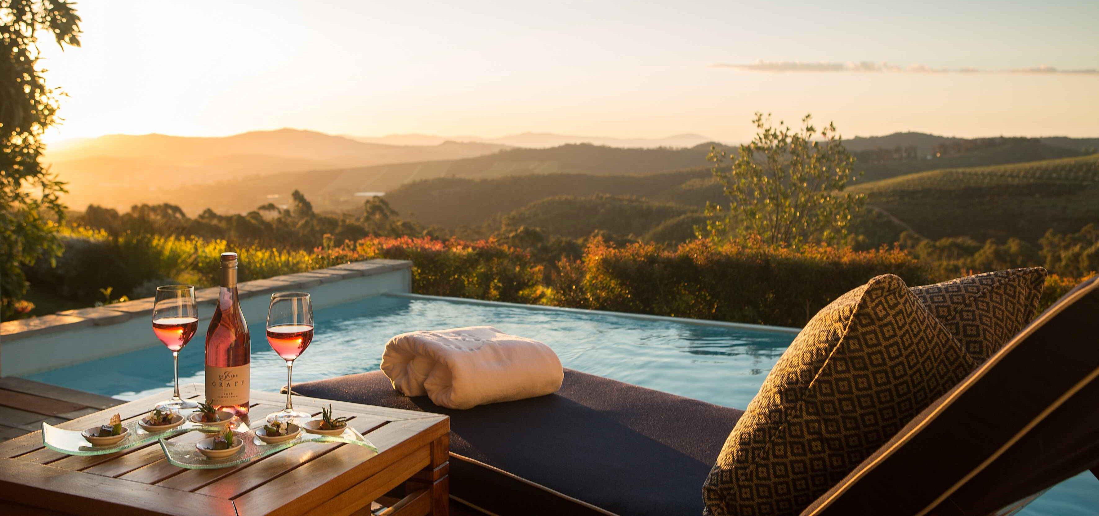 Wine tasting with a view at Delaire Graff