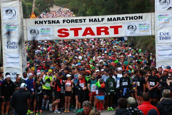 Largada da Knysna Forest Half Marathon