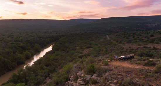 Sunset at the Kwandwe River in the Eastern Cape of South Africa