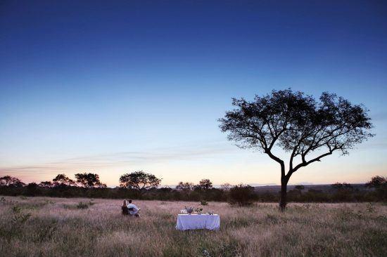 Refeição ao ar livre em Londolozi Private Game Reserve