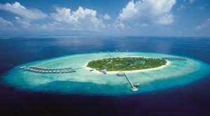 Das Maldives Manafaru Beach House von oben - Inseln im Indischen Ozean