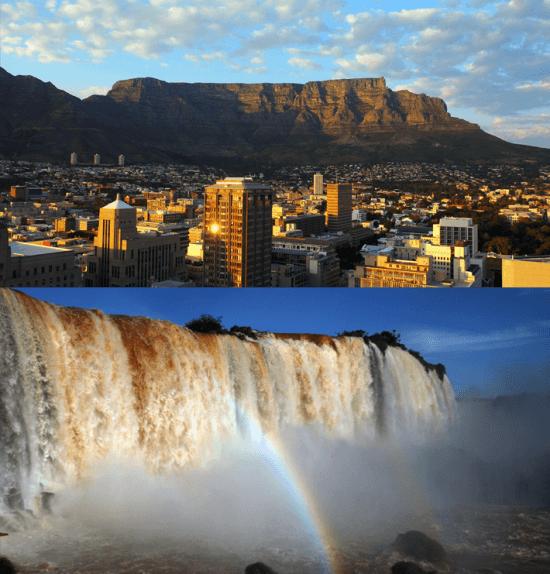 Semelhanças entre Brasil e África do Sul — Cataratas do Iguaçu e Table Mountain figuram na lista das Sete Novas Maravilhas Naturais do Mundo.