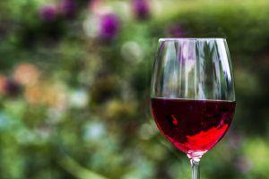 Una deliciosa copa de vino tinto