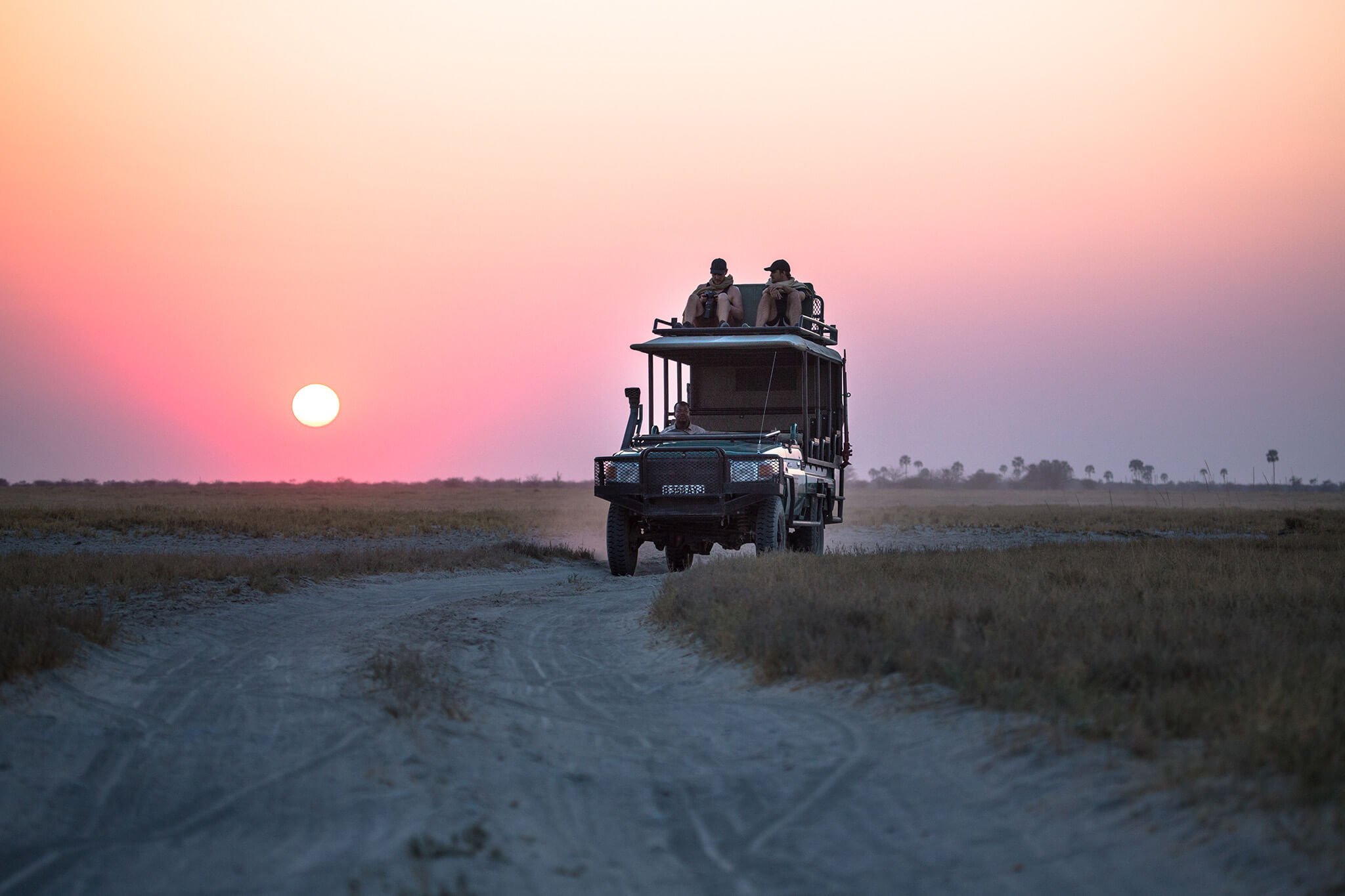 Veículo de safári em Jacks Camp, Botsuana