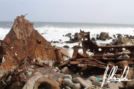 Ship wreck on the Namibian coastline