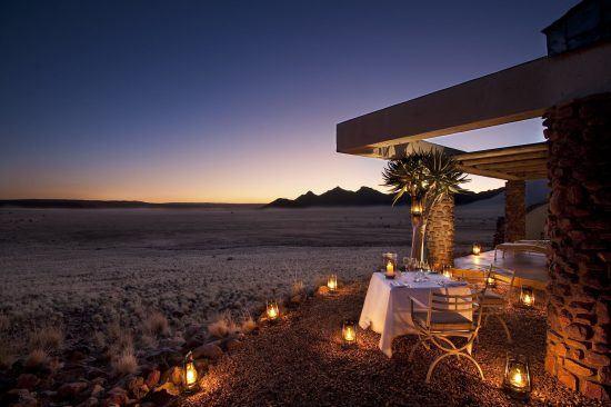 Abendessen Sossusvlei Desert Lodge