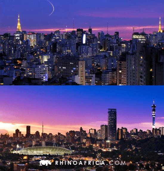 Semelhanças entre Brasil e África do Sul — São Paulo e Joanesburgo