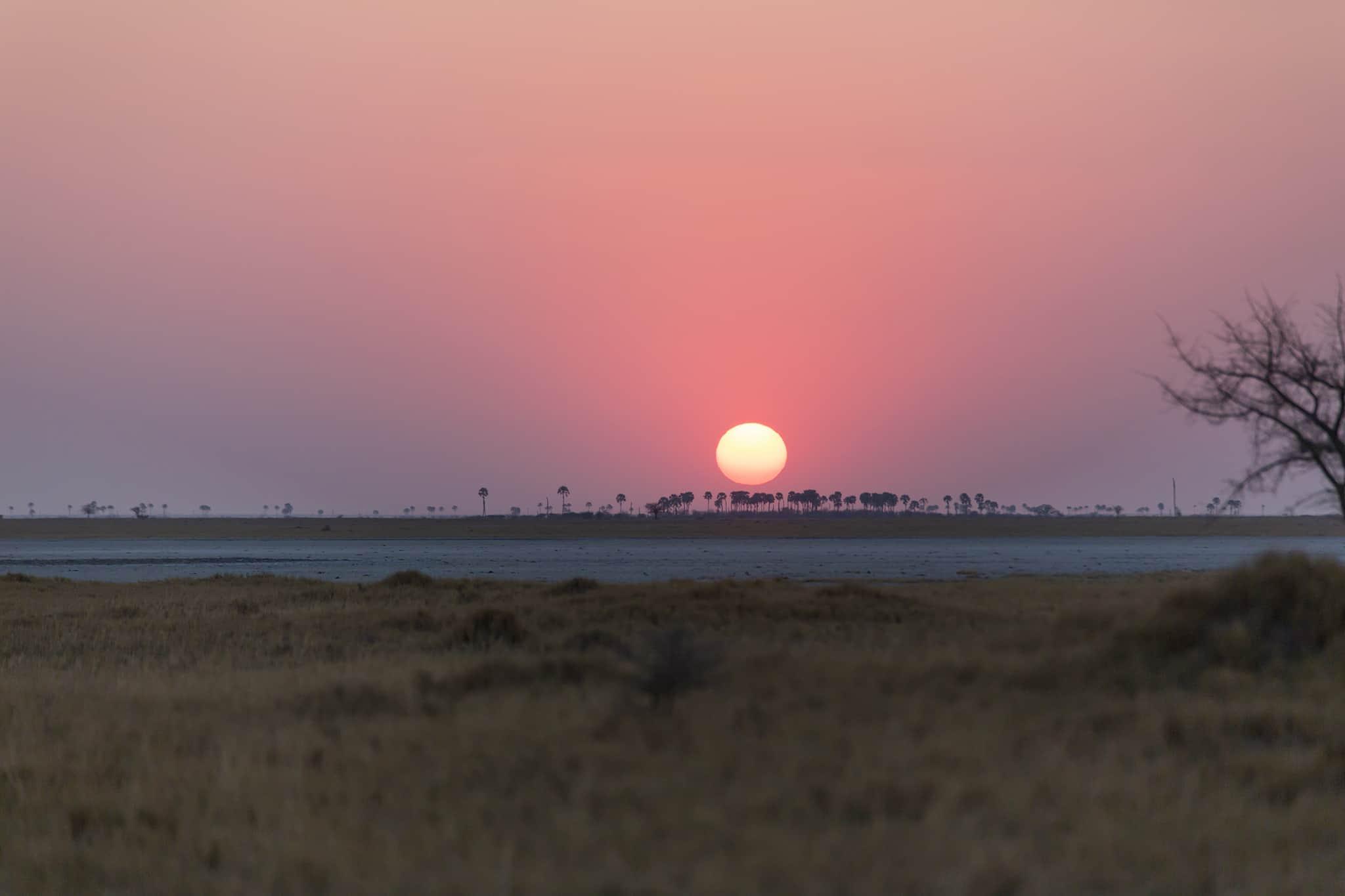 sunrise Jack's Camp Botswana