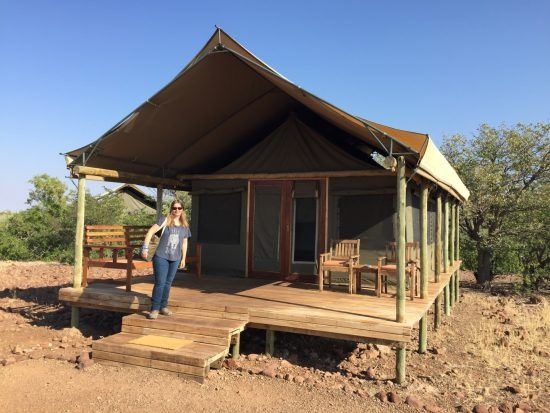 Desert Rhino Camp in Namibia