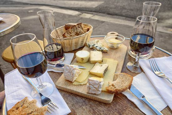 wine cheese tasting