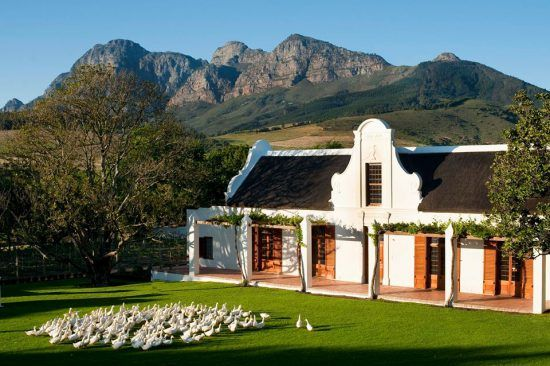 Babylonstoren's quintessential Cape Dutch-style farmhous