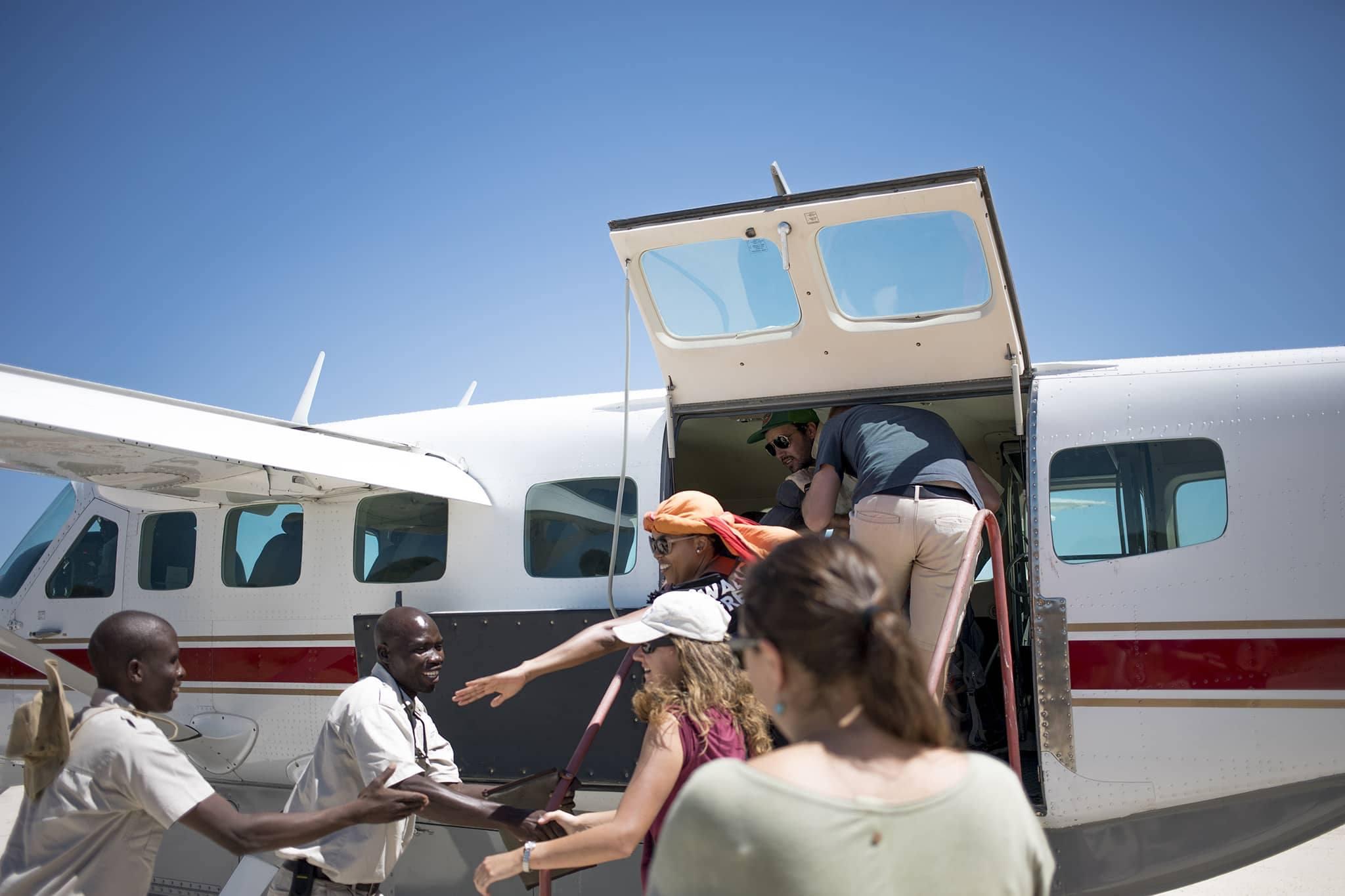 Botswana Moremi Okovango Delta leaving airport
