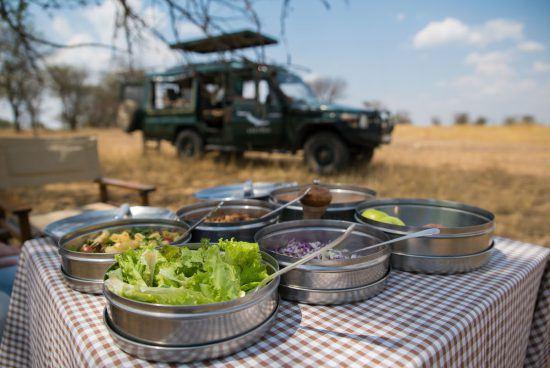 Dining in the bush at Serengeti Under Canvas