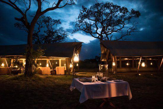 rhino africa's image of dining at serengeti under canvas