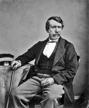 Ein schwarzweißes Foto von David Livingstone aus dem Jahr 1864