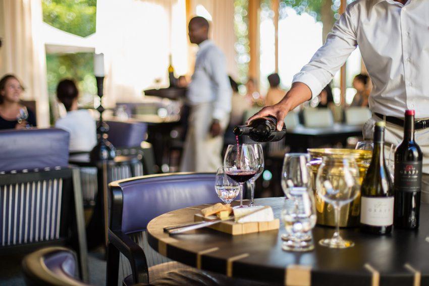 Degustación de las notas de sabor de los vinos