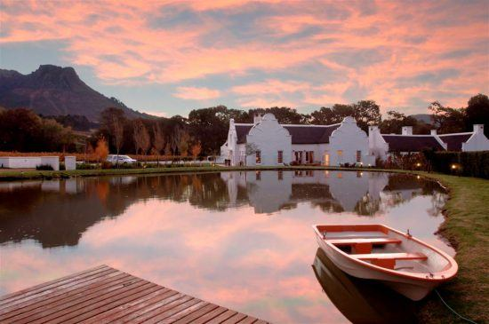 The Cape Winelands region offers sumptuous cuisine and wine tasting
