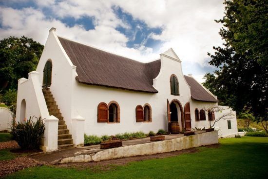 The Cape-Dutch style building at Klein Constantia