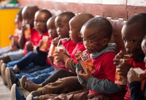 South African children at the Khumbulani Day Care Centre