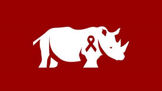 Rhino Africa Logo mit AIDS-Schlaufe