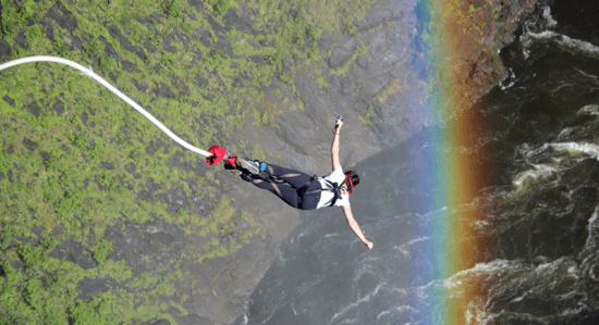 Bungee jumping from Victoria Falls Bridge