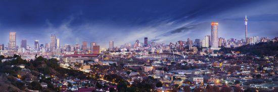 Skyline von Johannesburg, Südafrika