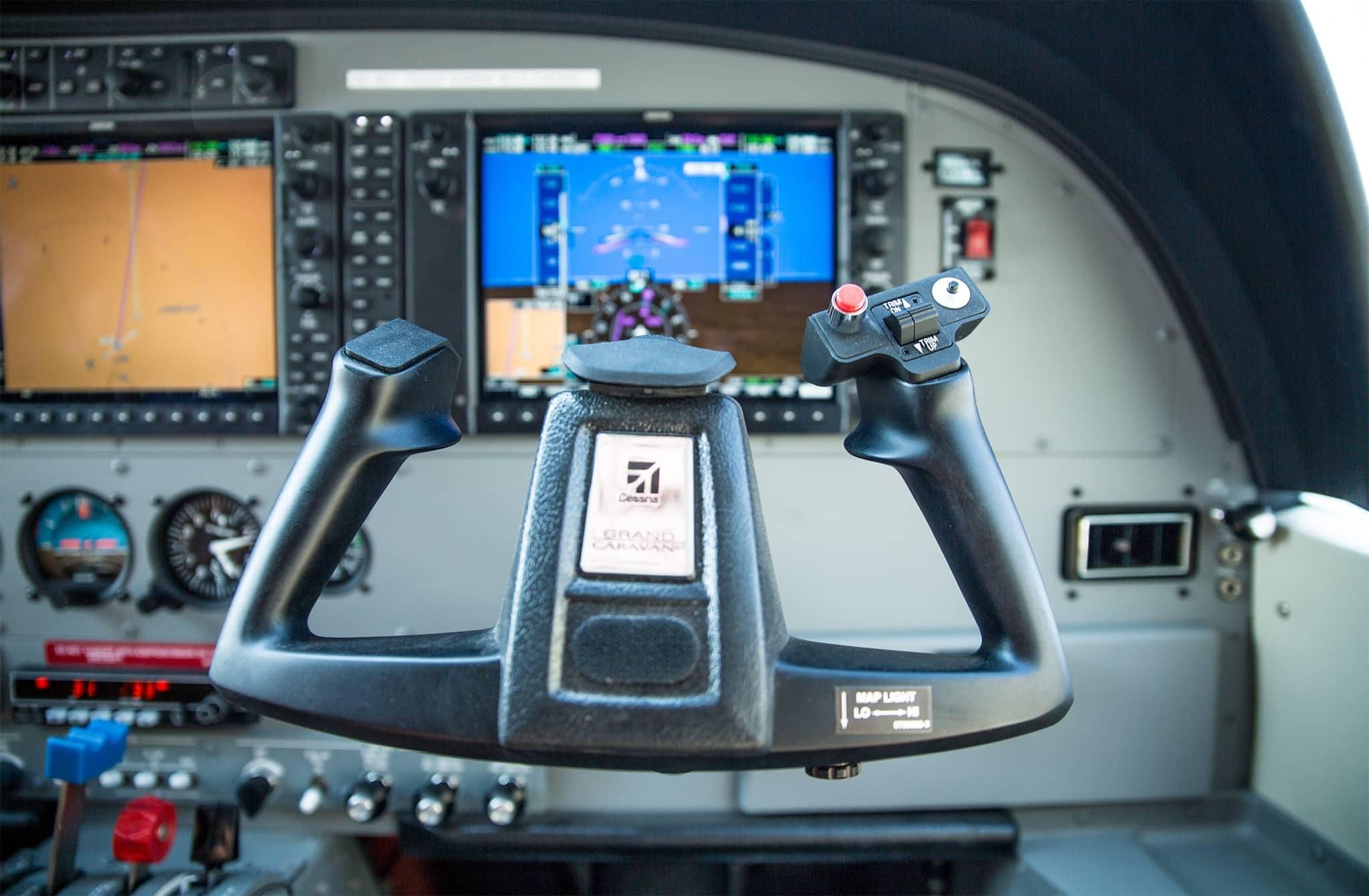 Cockpit airplane Machaba Camp Botswana Khwai