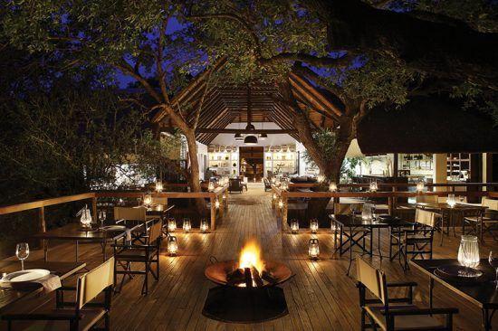 Hospedagens de luxo na África: área externa do Londolozi