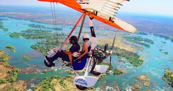 Micro leve — aventura em Victoria Falls