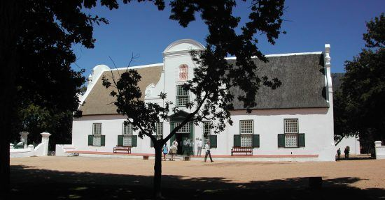 The Cape-Dutch style building at Groot Constantia wine farm
