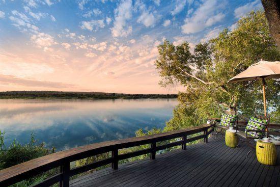 Panoramic views of the Zambezi River