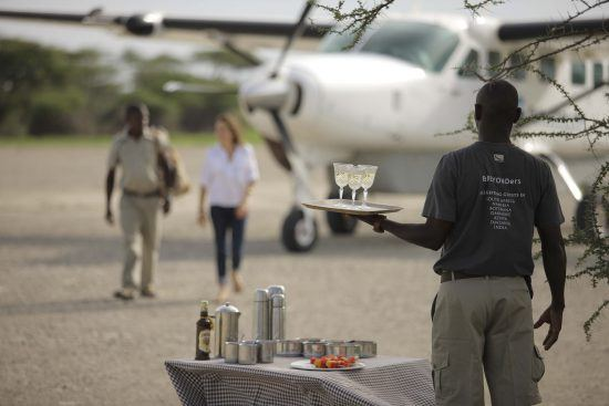 airstrip transfer to serengeti under canvas after your flight