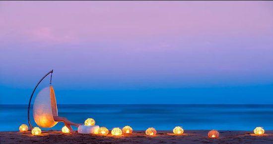 Abend Strand Ponta Mamoli