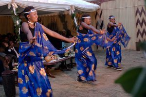 Women in traditional clothes dancing