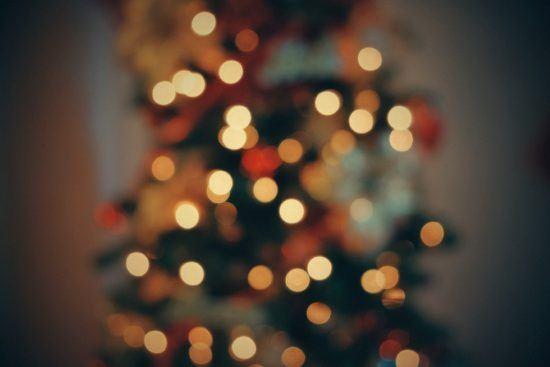 Verschwommener Weihnachtsbaum