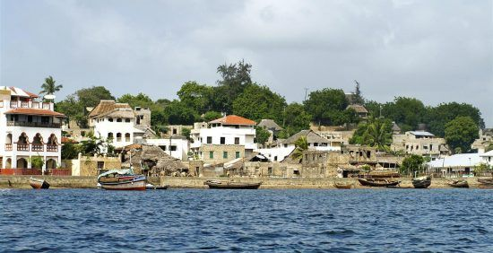 Lamu town on Lmau Island in Kenya