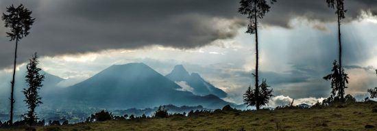 Panorama auf Vulkane