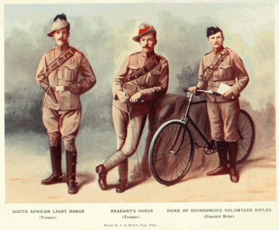 Soldados britânicos em trajes cáqui - Segunda Guerra Boer