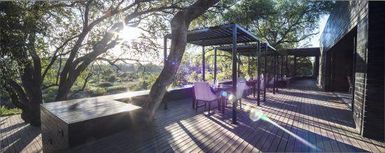 Breakfast deck at Silvan Safari lodge