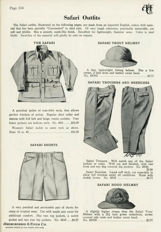 Moda de safári: Abercrombie