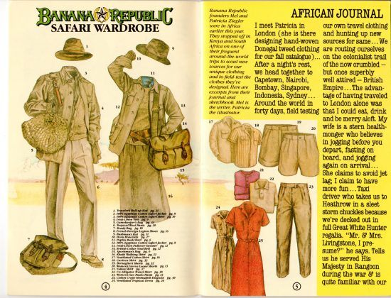 Moda de safári: Catálogo Banana Republic