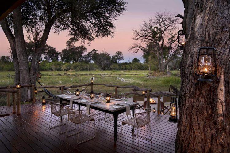 Khwai Tented Camp et espace extérieur au Botswana