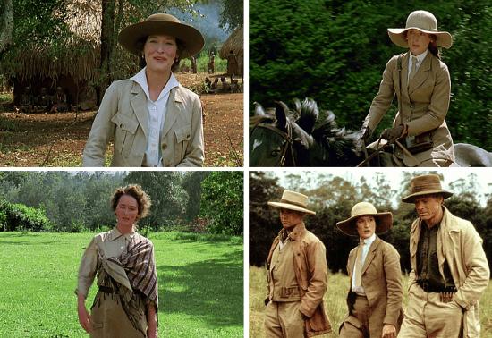 """Moda de safári: Meryl Streep em """"Out of Africa"""""""