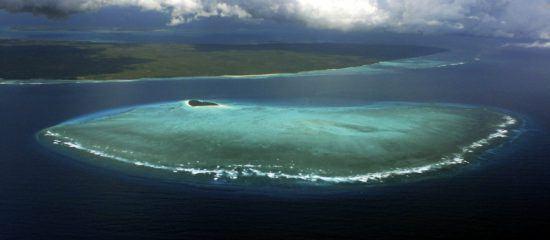 Vista aérea da Ilha de Pemba